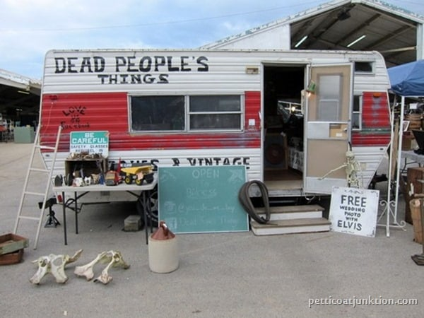 Dead Peoples Things Nashville Flea Market Petticoat Junktion shopping trip