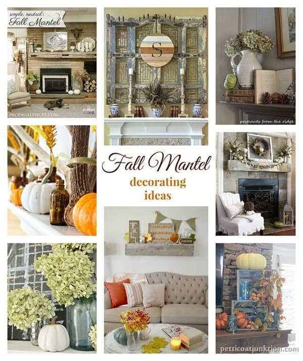 Fall Mantel Decorating Ideas Petticoat Junktion