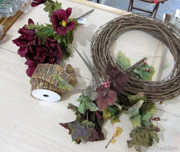 Fall ideas wreath supplies Petticoat Junktion