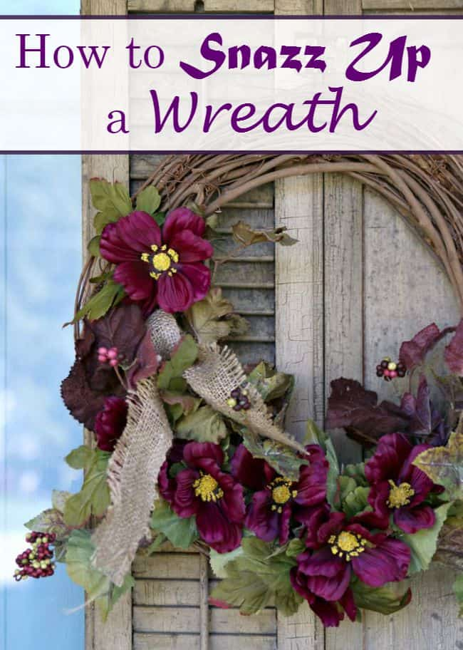 How to snazz up a wreath Petticoat Junktion vintage shutter wreath