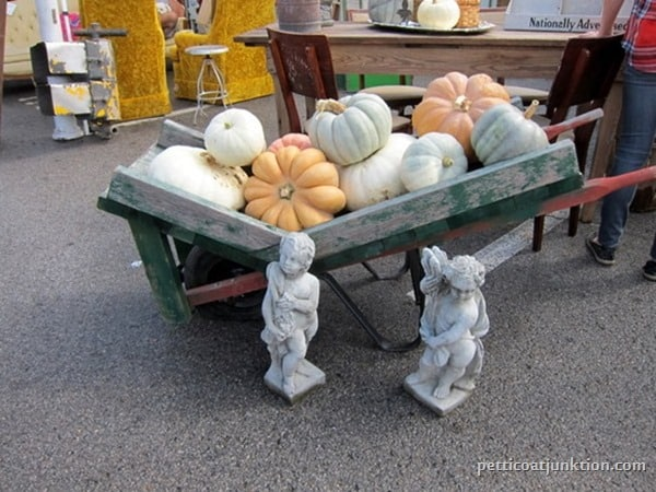 Pumpkins Nashville Flea Market Petticoat Junktion shopping trip