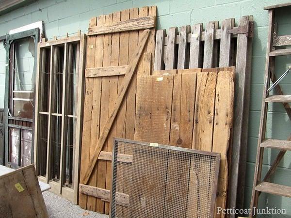 Reclaimed wood Gates Petticoat Junktion shopping trip Nashville Flea Market  6