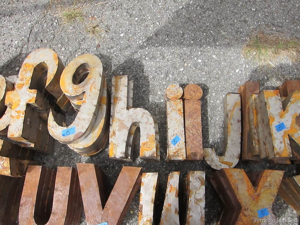 Rusty Metal Letters My Word Is Petticoat Junktion