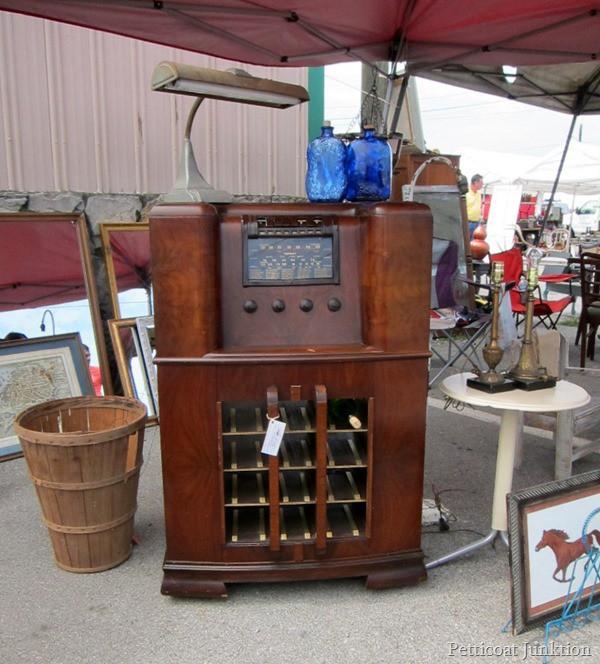 Wine Cabinet Petticoat Junktion shopping trip Nashville Flea Market  4