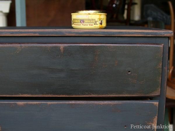 applying dark wax Petticoat Junktion
