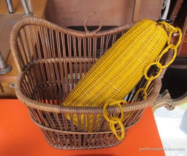 basket estate sale and flea market finds Petticoat Junktion.