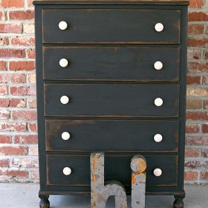 Painted Black Chest | Yes It's Distressed