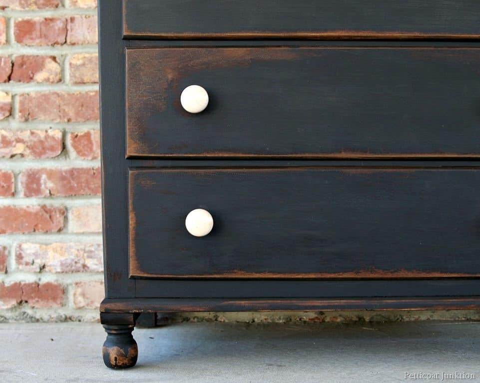 ... distressed black paint Petticoat Junktion - How To Make New Furniture Look Old In Five Easy Steps