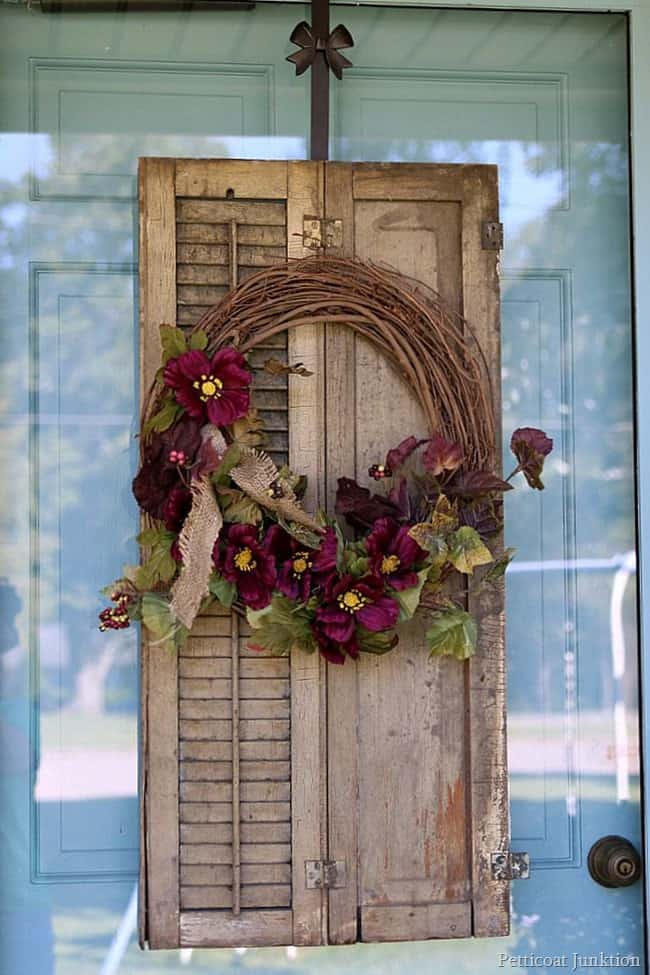 how to make a fall wreath Petticoat Junktion
