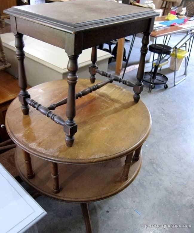 vintage tables estate sale and flea market finds Petticoat Junktion.