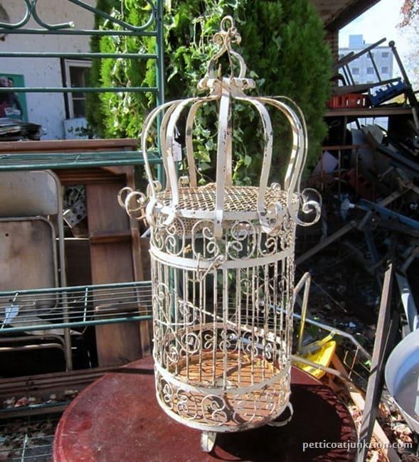 Antique Bird Cage my favorite junk shop Petticoat Junktion shopping trip