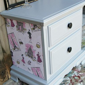How To Decoupage  Furniture And Change Hardware Style