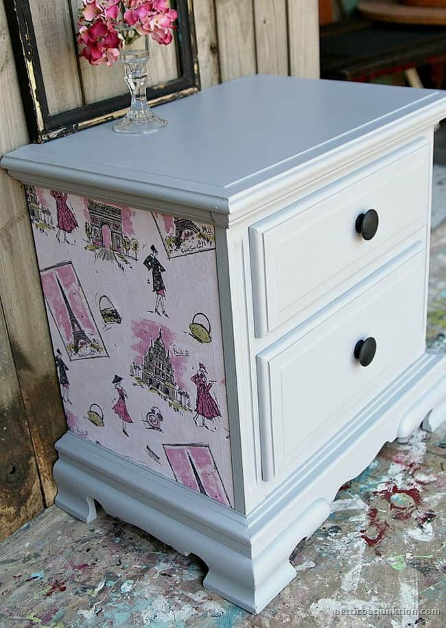 Decoupage furniture project Petticoat Junktion