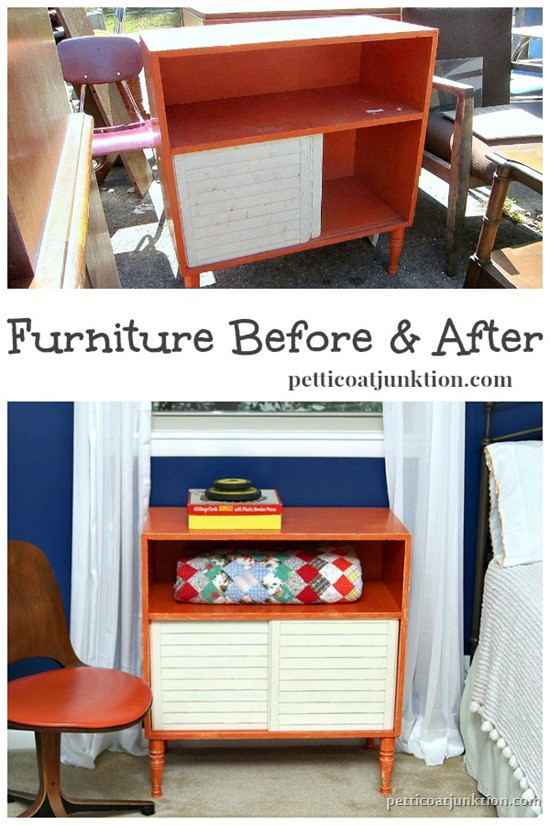 Furniture before and after makeover Petticoat Junktion