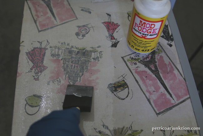 Mod-Podge decoupage project Petticoat Junktion