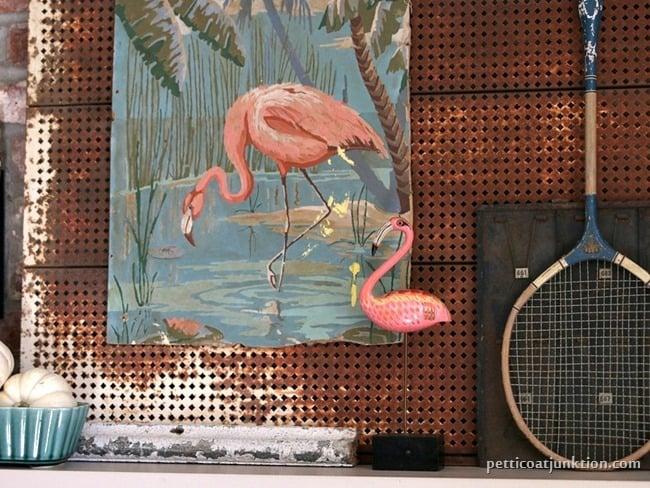 Pink Flaming Mantel Decor Petticoat Junktion project
