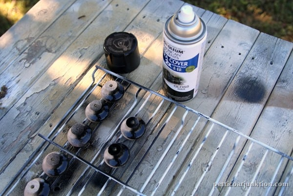 Rustoleum spray paint for furniture hardware Petticoat Junktion
