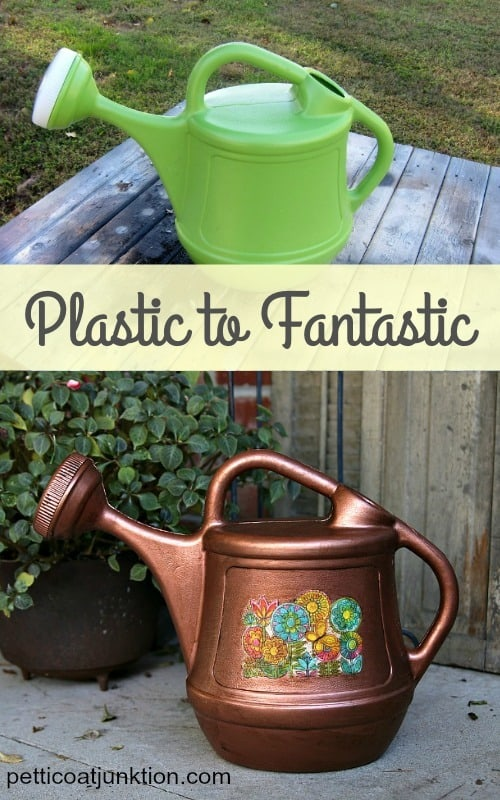Watering Can with Aged Copper Metallic Finish Petticoat Junktion