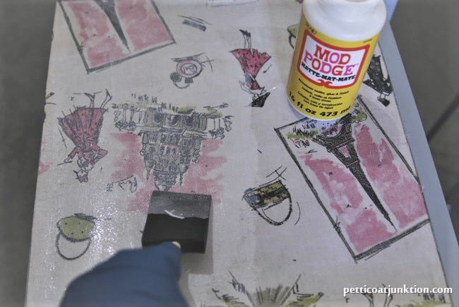 decoupage furniture as part of a complete furniture transformation