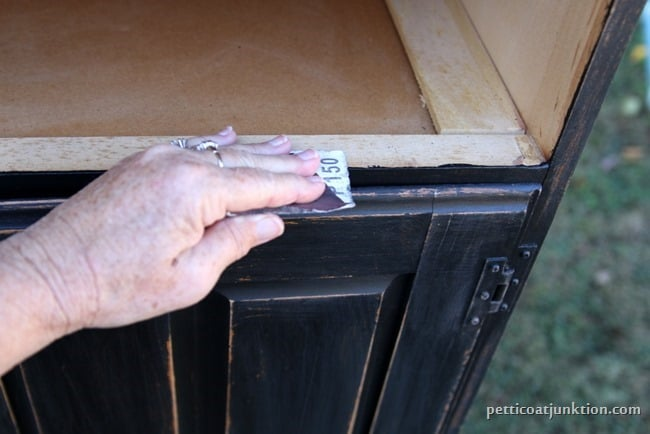 distressing furniture paint