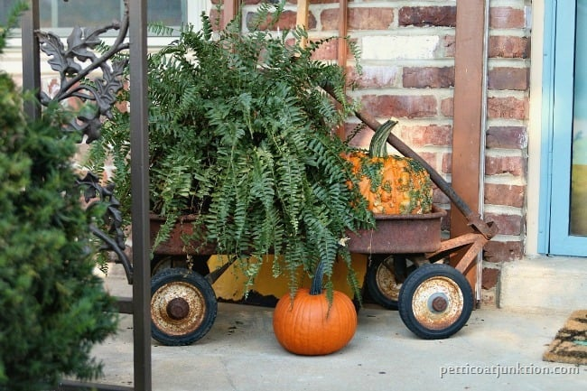 fall rusty wagon display Petticoat Junktion