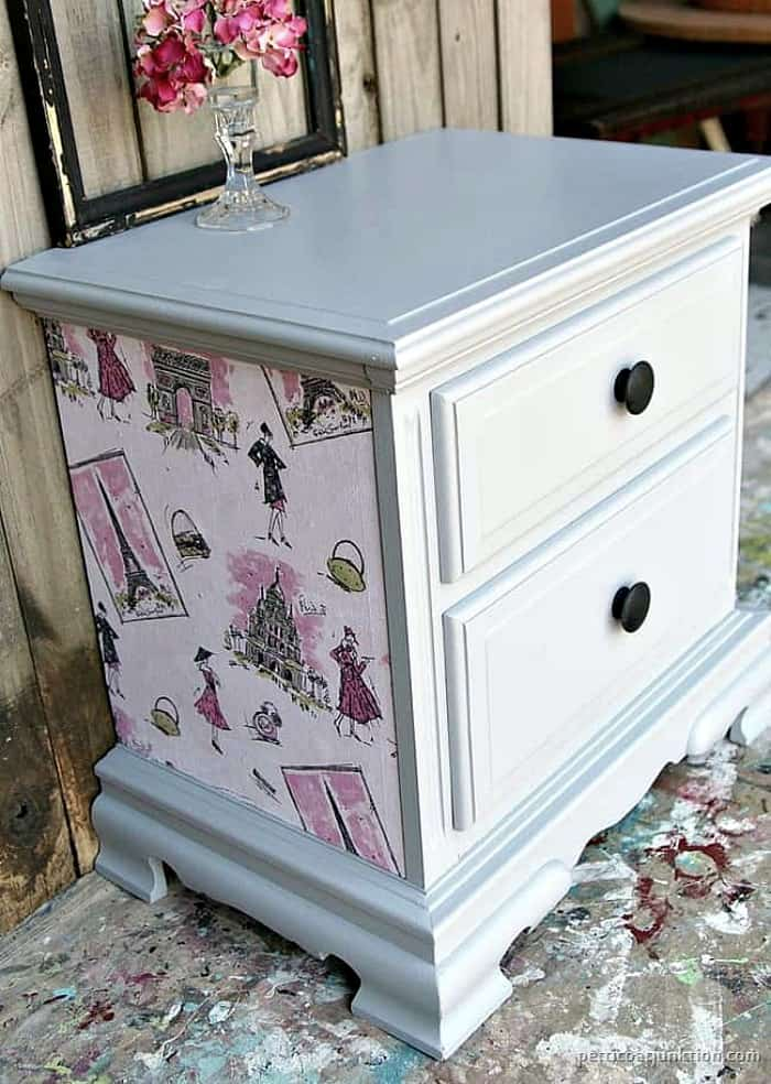 how to change furniture hardware and add drawer knobs to a nightstand