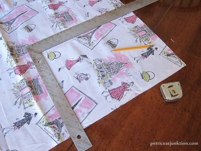 how to decoupage fabric to furniture Petticoat Junktion