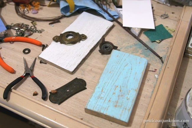 making assemblage art from reclaimed hardware Petticoat Junktion