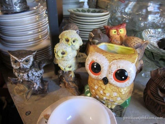 owls my favorite junk shop Petticoat Junktion shopping trip