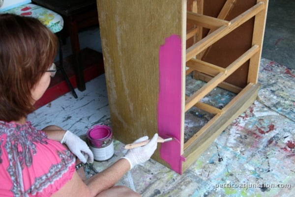 pink paint project and favorite Purdy paint brushes Petticoat Junktion