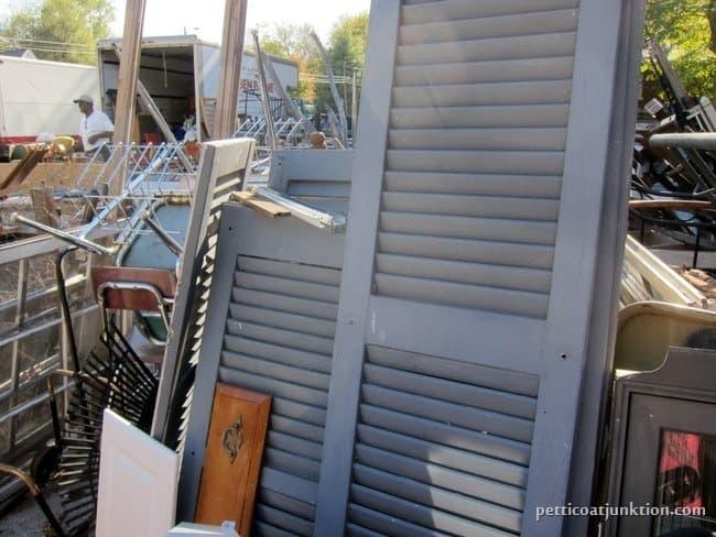 reclaimed shutters my favorite junk shop Petticoat Junktion shopping trip
