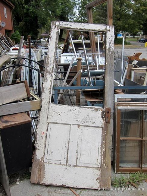 reclaimed wood door junk shopping Petticoat Junktion