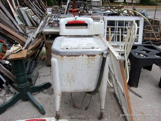 vintage washing machine junk shopping Petticoat Junktion