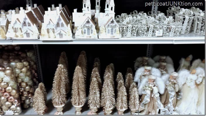 Champagne color Christmas Decor At Home Store Petticoat Junktion