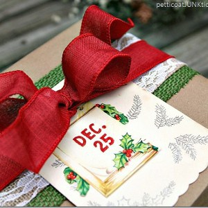 Kraft Paper Wrapped Package | Christmas Gift Wrap Ideas Blog Hop