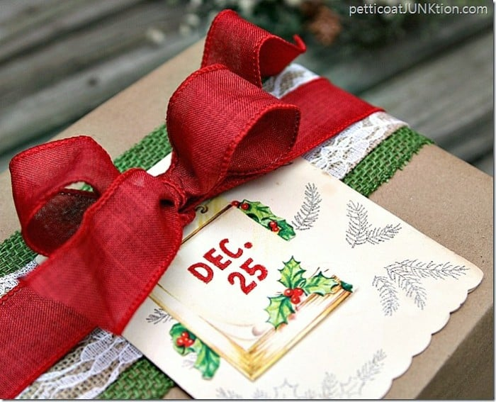 Kraft Paper Wrapped Packages Chrismas Gift Wrap Ideas Blog Hop Petticoat Junktion