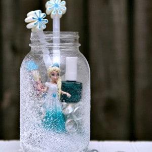 Elsa Frozen Mason Jar Gift For Granddaughter