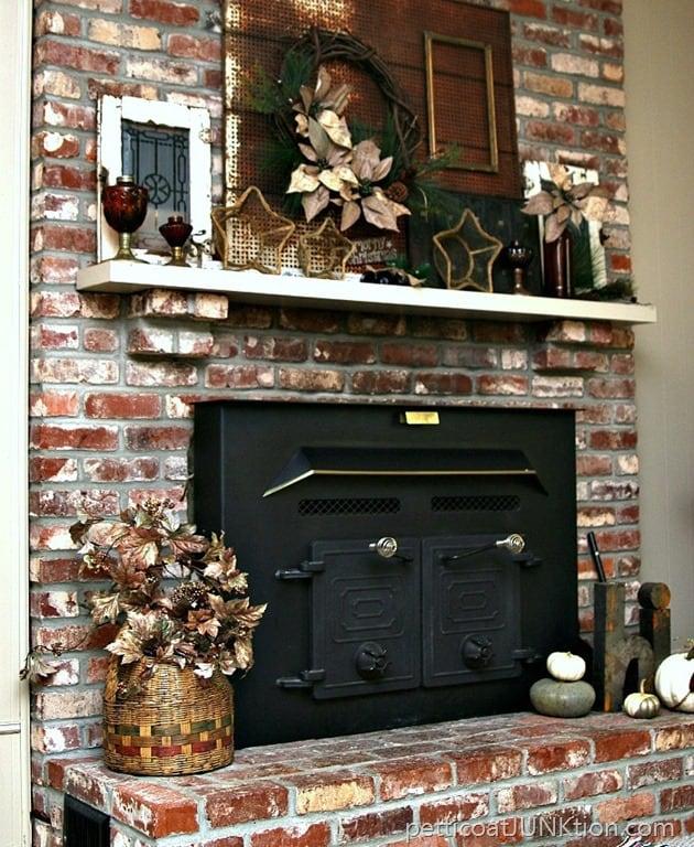 Amber Glass Rustic Mantel Decor