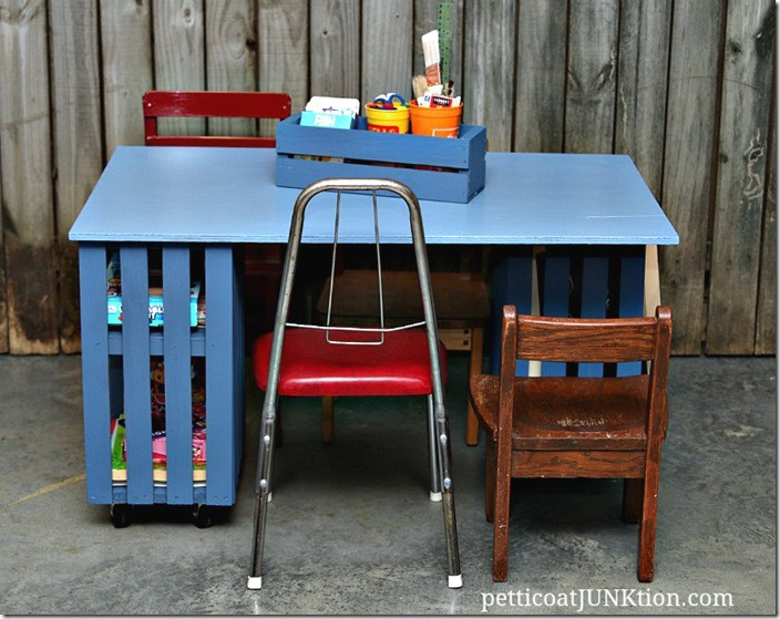 Kids Crate Table Petticoat Junktion
