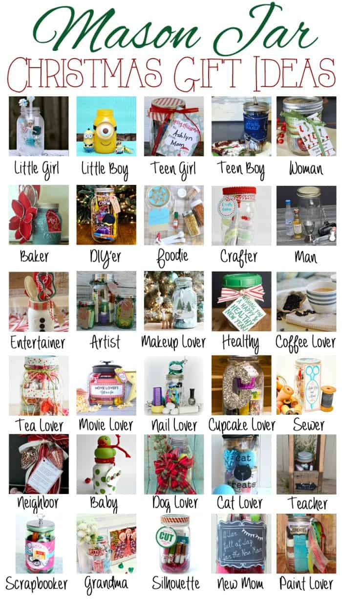 Mason Jar Christmas Gift Ideas over 30 ideas for everyone on your list 700