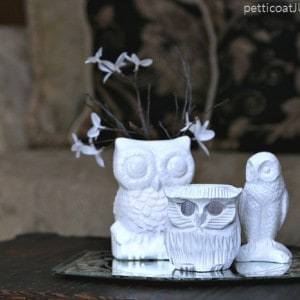 Thrifty Owl Figurines And A 10 Minute Makeover