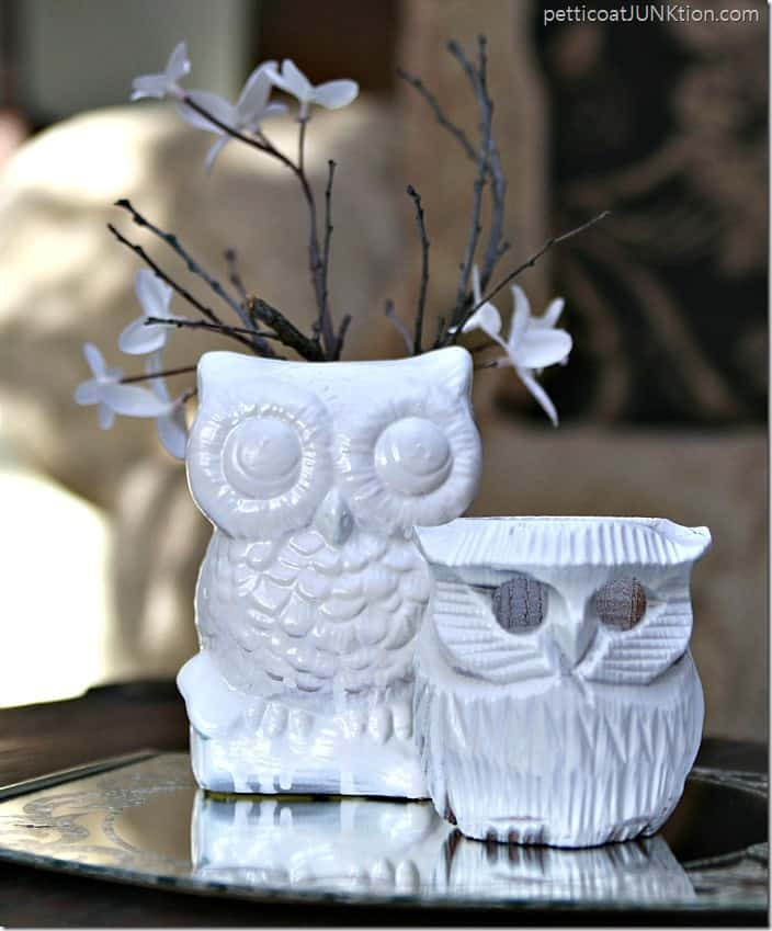 Thrifty owl figurines get an extreme makeover Pettiocat Junktion
