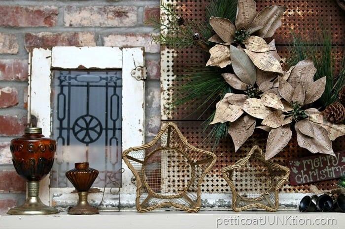Amber Glass Rustic Mantel Decor Christmas Ideas Tour