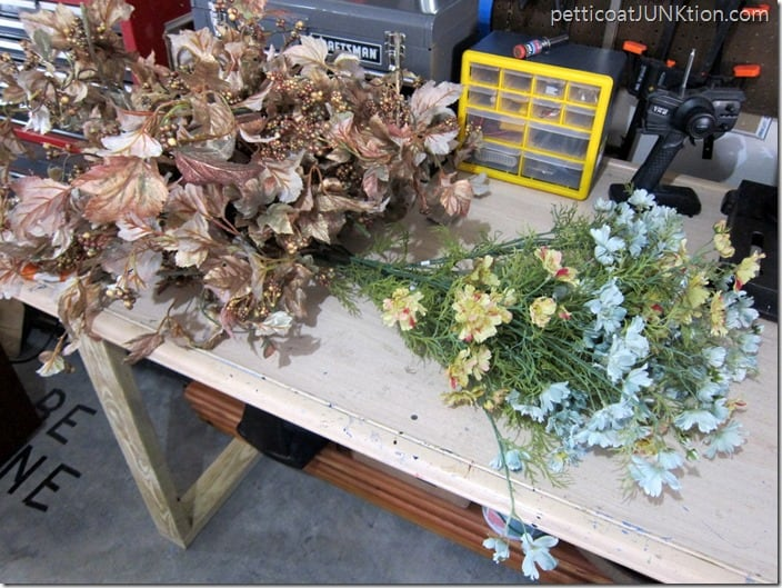 artificial flower stems for projects Petticoat Junktion