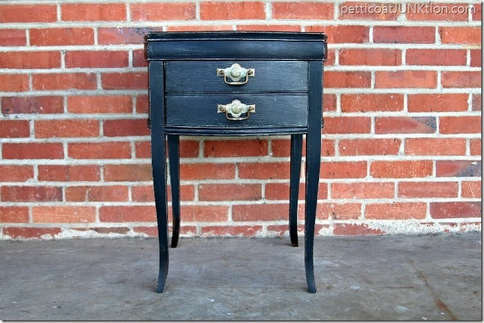 black painted furniture theme of the month Petticoat Junktion