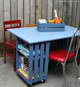 How To Make A Kids Crate Table Workstation