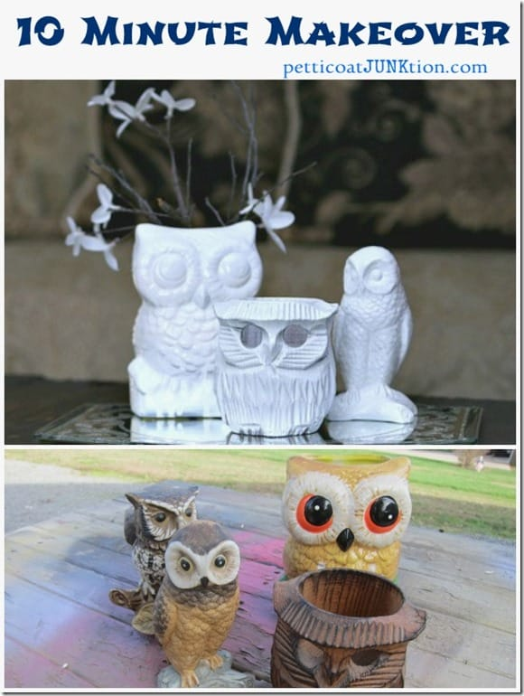 owl figurine 10 minute extreme makeover
