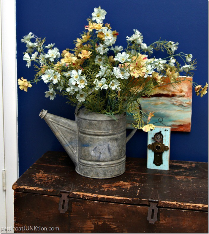 turquoise flowers and oil painting display Petticoat Junktion