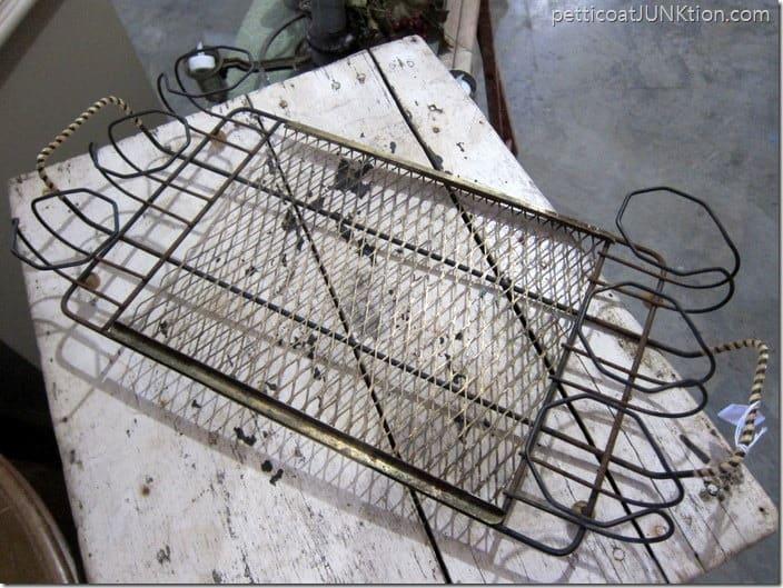 vintage metal tray Petticoat Junktion