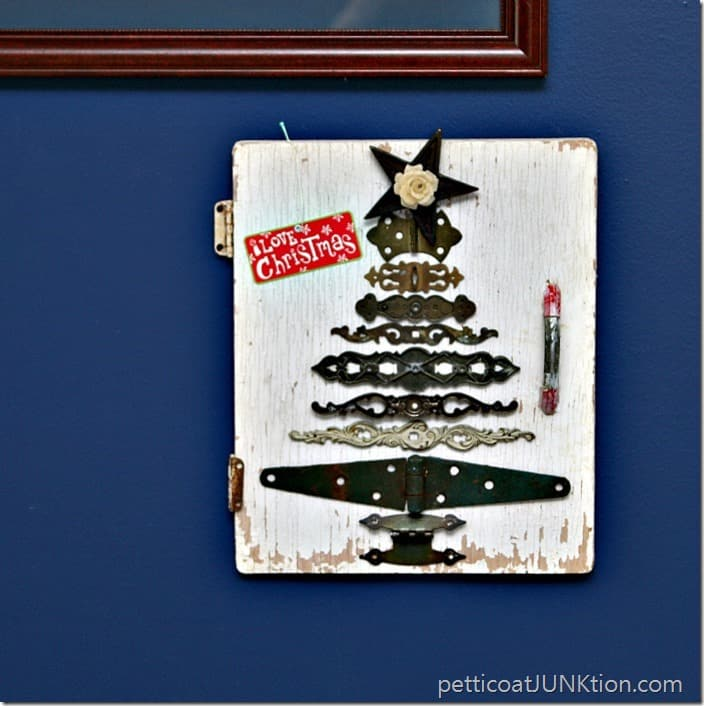 10 Clever Christmas Ideas using Recycled items Petticoat Junktion hardware Christmas tree